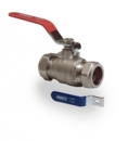 Lever ball valve Red/Blue 15mm