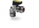 COMPRESSION MINI BALL VALVE Angled 10mm  Gas