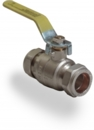 LEVER BALL VALVE 22mm GAS APPROVED YELLOW