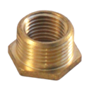 1/2 x 1/4 BSP BRASS BUSH HEX  REDUCING