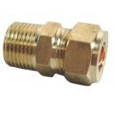 10MM X 3/8 BSP COMPRESSION MALE IRON COUPLER