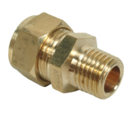 10MM X 1/4 BSP COMPRESSION MALE IRON COUPLER