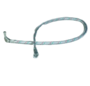 OIL LINE METAL BRAIDED 900MM 1/4 M ELBOW x 3/8 F MECTRON