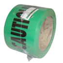 WARNING TAPE OIL LINE 50M ROLL GREEN