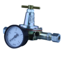 GOK OIL PRESSURE REGULATOR & GAUGE 0.2-5 bar 180l/hr 10mm