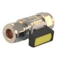 COMPRESSION MINI BALL VALVE Straight 15mm x 10mm  Gas