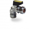 COMPRESSION MINI BALL VALVE Angled 15mm X 10mm Gas
