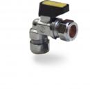 COMPRESSION MINI BALL VALVE Angled 15mm  Gas