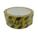 "TAPE ""UNSAFE APPLIANCE"" 38mm x 33m  Yellow/Black"