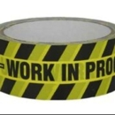 """Tape """"Do Not Use - WIP"""" 38mm x Black/Yellow"""