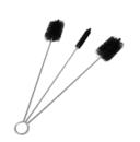 Flue Brush Set 3piece 5cm + 5cm x 1.5cm flat + 1.5cm